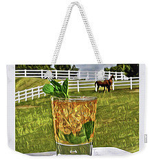 Mint Julep Kentucky Derby Weekender Tote Bag