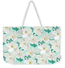 Mint Magnolias Weekender Tote Bag by Elizabeth Tuck