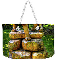 Weekender Tote Bag featuring the photograph Mirnie's Cougar Sculpture by David Patterson