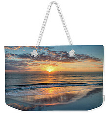 Weekender Tote Bag featuring the photograph Mirror At Sunrise by Debra and Dave Vanderlaan