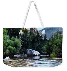 Weekender Tote Bag featuring the photograph Mirror Lake- by JD Mims