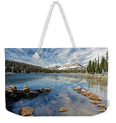 Weekender Tote Bag featuring the photograph Mirror Lake by Scott Read