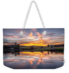 Mirror Lake Sunset Weekender Tote Bag