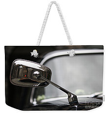 Weekender Tote Bag featuring the photograph Mirror Mirror On The Car by Mary-Lee Sanders