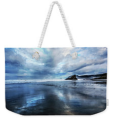 Weekender Tote Bag featuring the photograph Mirror Of Light by Debra and Dave Vanderlaan