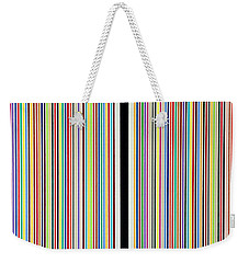 Weekender Tote Bag featuring the painting Mirror Prism by Thomas Gronowski