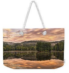 Bass Lake Sunrise - Moses Cone Blue Ridge Parkway Weekender Tote Bag
