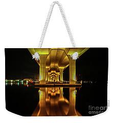 Mirrored Bridge Reflection Weekender Tote Bag by Tom Claud