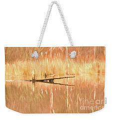 Mirrored Reflection Weekender Tote Bag by Laurinda Bowling