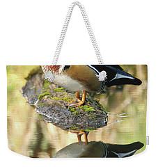 Mirrored Wood Duck Weekender Tote Bag