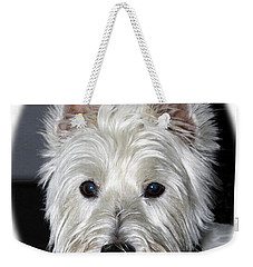 Mischievous Westie Dog Weekender Tote Bag