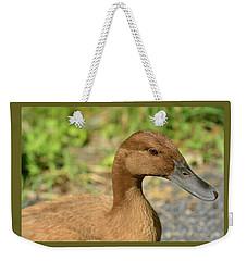Miss Brown Eyes Weekender Tote Bag