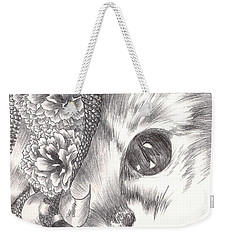Miss Cat Weekender Tote Bag