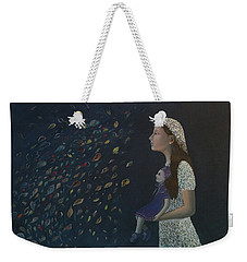 Miss Frost Watching The Autumn Dance Weekender Tote Bag by Tone Aanderaa