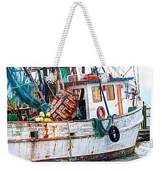 Miss Hale Shrimp Boat - Side Weekender Tote Bag