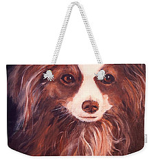 Weekender Tote Bag featuring the painting Miss Pippin by Alan Lakin