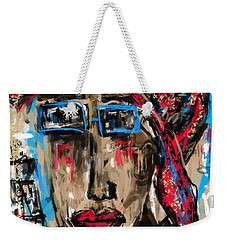Weekender Tote Bag featuring the digital art Miss You by Sladjana Lazarevic