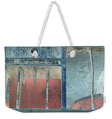 Missing Middle Bar Left Flipped Horizontal Weekender Tote Bag by Heather Kirk