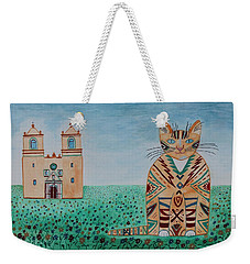 Mission Concepcion Cat Weekender Tote Bag