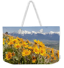 Mission Mountain Balsam Blooms Weekender Tote Bag