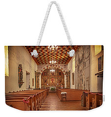 Weekender Tote Bag featuring the photograph Mission San Francisco De Asis Interior by Susan Rissi Tregoning