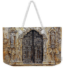 Mission San Jose Church Entrance Weekender Tote Bag by Joey Agbayani