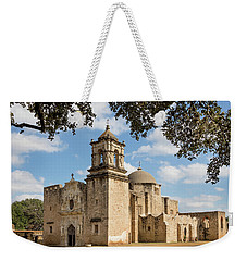 Weekender Tote Bag featuring the photograph Mission San Jose by Mary Jo Allen