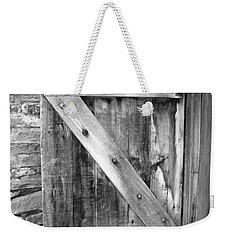 Weekender Tote Bag featuring the photograph Mission San Jose' - Shutter Bw by Beth Vincent