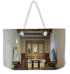 Weekender Tote Bag featuring the photograph Mission San Juan Capistrano Sanctuary - San Antonio by Stephen Stookey