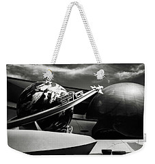 Mission Space Black And White Weekender Tote Bag by Eduard Moldoveanu