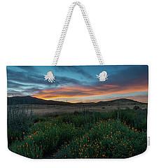 Mission Trails Poppy Sunset Weekender Tote Bag