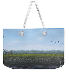 Weekender Tote Bag featuring the painting Missiquoi Refuge by Tracey Goodwin