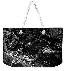 Weekender Tote Bag featuring the photograph Missisquoi River In Vermont - 2 Bw by James Aiken