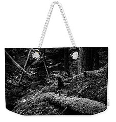 Weekender Tote Bag featuring the photograph Missisquoi River In Vermont - 3 Bw by James Aiken