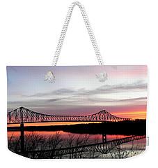 Mississippi River At Savanna Weekender Tote Bag