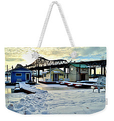 Mississippi River Boathouses Weekender Tote Bag