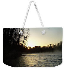 Weekender Tote Bag featuring the photograph Mississippi River Sunrise Shadow by Kent Lorentzen