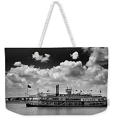 Mississippi Riverboat In Black And White Weekender Tote Bag