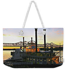 Mississippi Riverboat Sunset Weekender Tote Bag