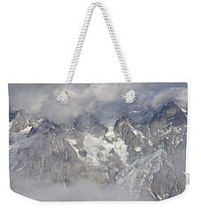 Mist And Clouds At Auiguille Du Midi Weekender Tote Bag