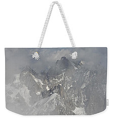 Mist At Aiguille Du Midi Weekender Tote Bag