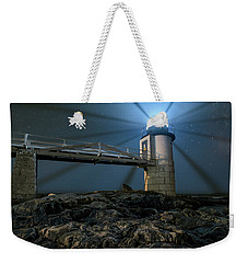 Mist At Marshall Point Light Weekender Tote Bag