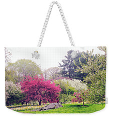 Mist In The Meadow Weekender Tote Bag by Jessica Jenney