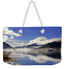 Mist On The Loch Weekender Tote Bag by Lynn Bolt