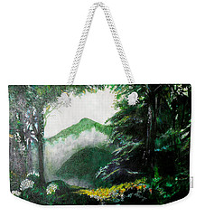Mist On The Mountain Weekender Tote Bag by Seth Weaver