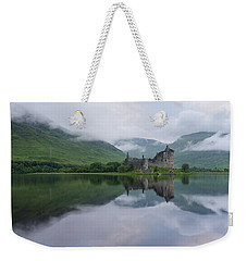 Mist Swarms Around Kilchurn Castle Weekender Tote Bag