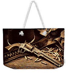 Mister Durant's Revolver Weekender Tote Bag by American West Legend By Olivier Le Queinec