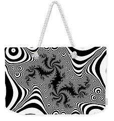Weekender Tote Bag featuring the digital art Mistreaded by Andrew Kotlinski