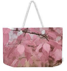 Misty Autumn Leaves Weekender Tote Bag by Judy Palkimas
