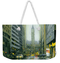 Misty Bay Street Weekender Tote Bag
